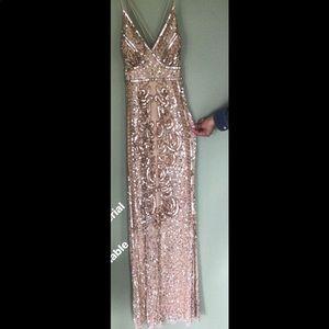 Long golden dress